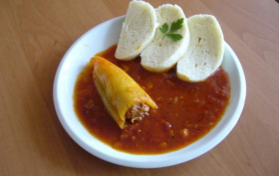 Pečené plněné papriky