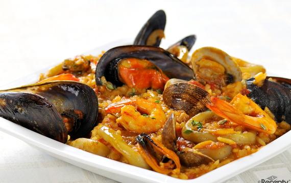 Rizoto s mušlemi a mořskými plody