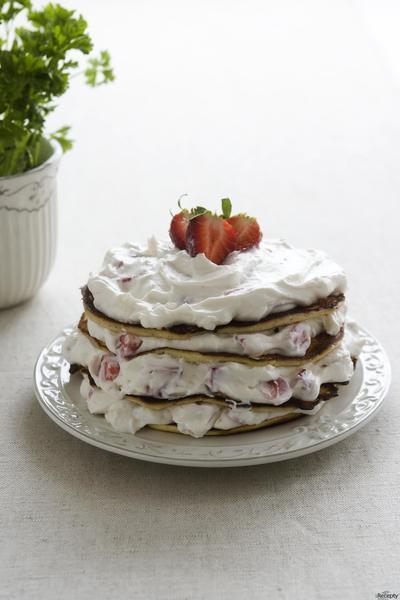 Lívanečkový dort
