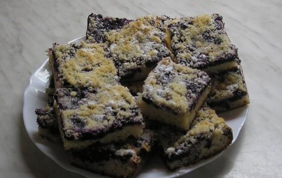 Borůvkový koláč  / těsto pekárna/