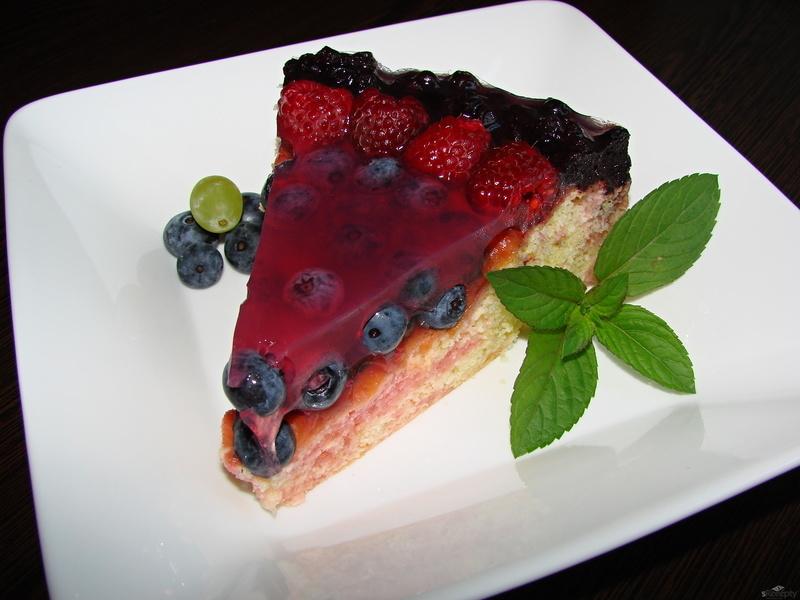 Ovocný dort s želatinou
