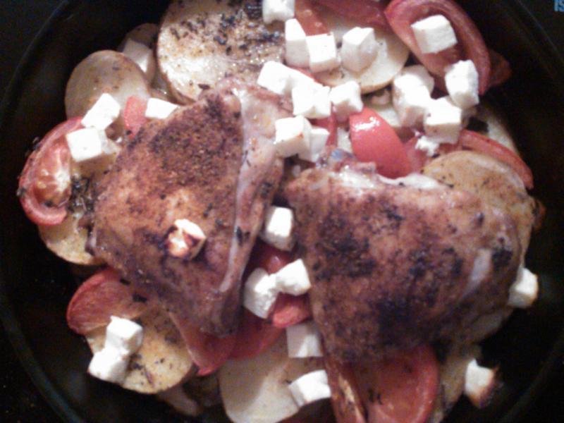 Pečené kuře na řecký způsob