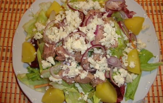 Lehký tuňákový salát