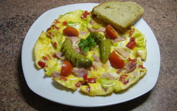 Vajíčková omeleta se zeleninou