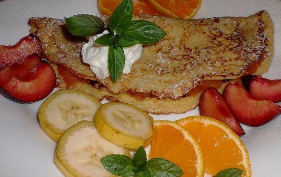 Dýňové omelety s ovocem