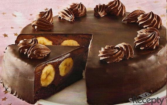 Čokoládový dort s banány