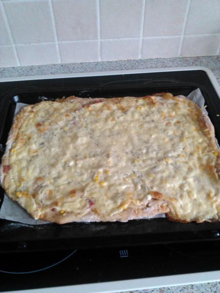 Pizza se sýrem Cottage
