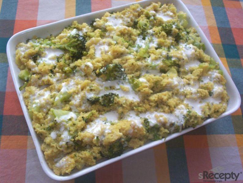 Kuskusový nákyp s brokolicí