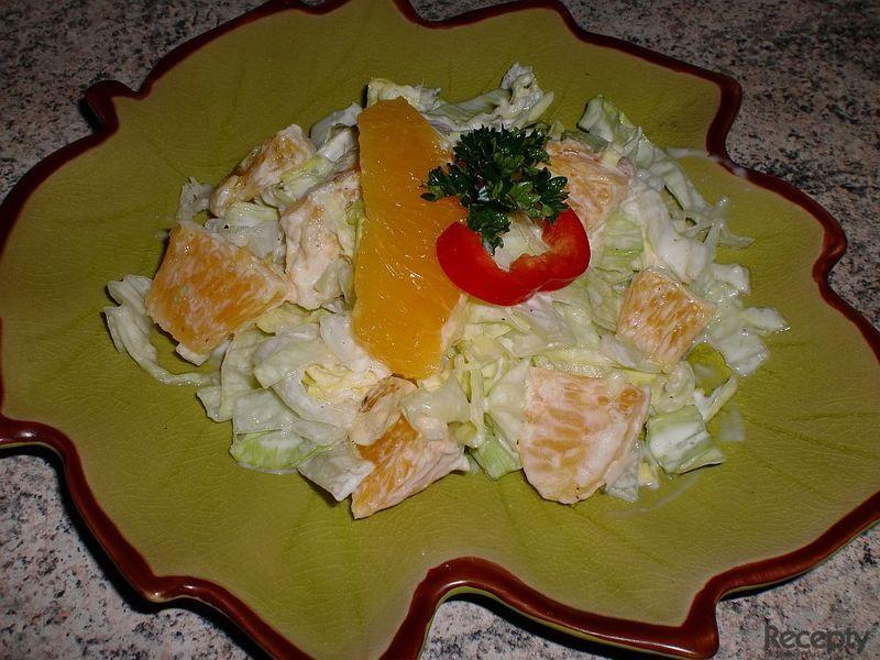Labužníkův salát s pomerančem
