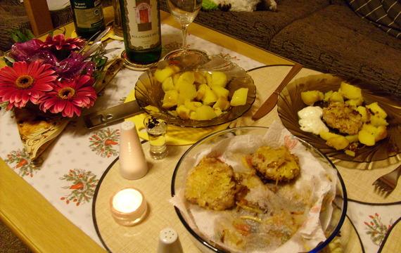 Řízky v bramborovém kabátku