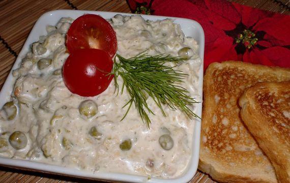 Rybí salát s křenem