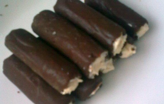 Ořechové trubičky nepečené