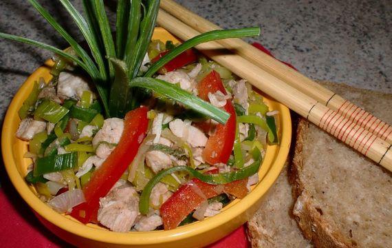 Kuřecí salát po čínsku