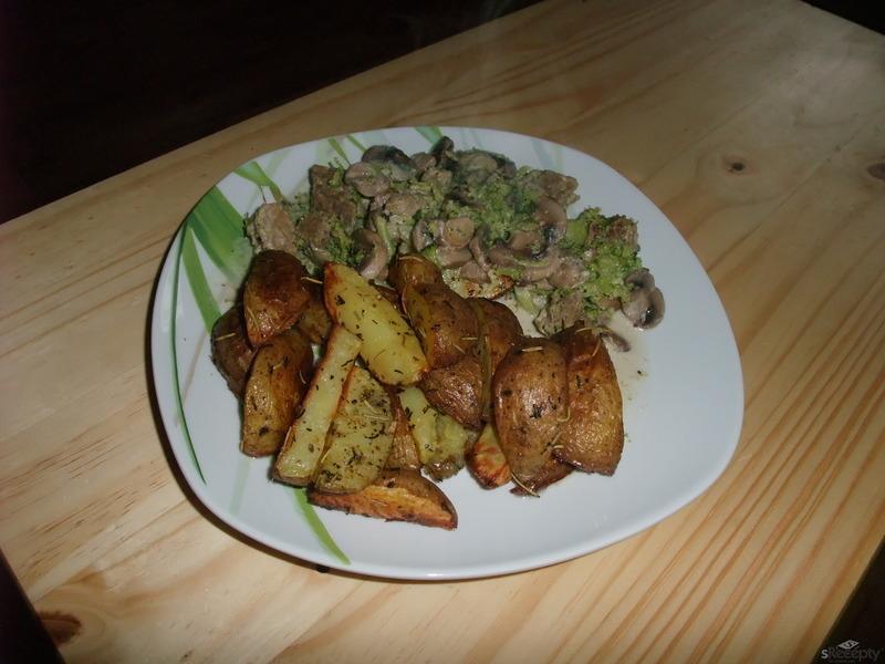 Hovězí maso s brokolicí a žampióny