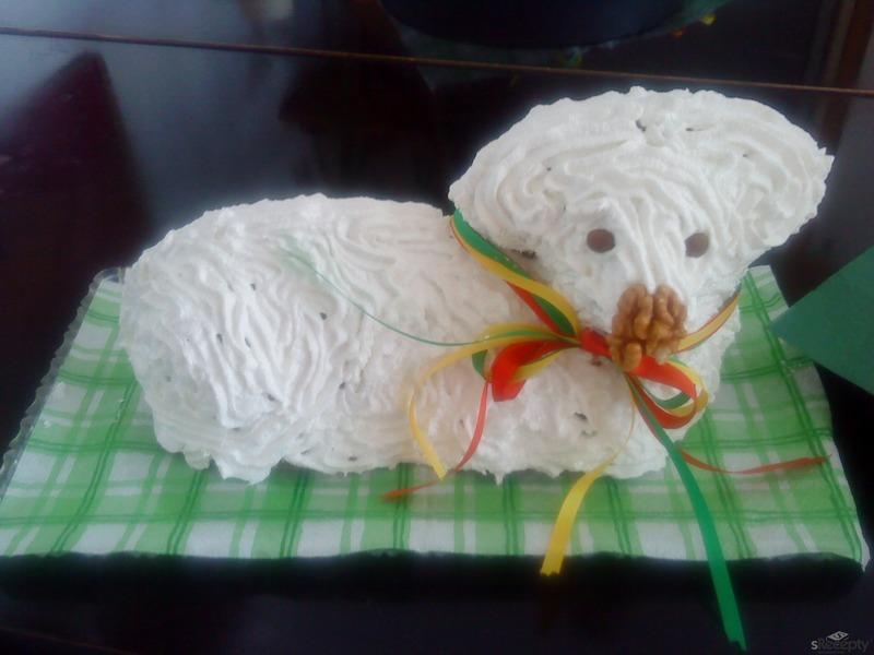 Sváteční velikonoční beránek