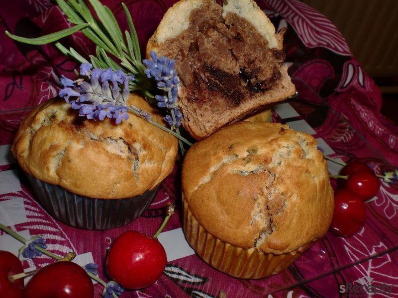 Levandulové muffiny