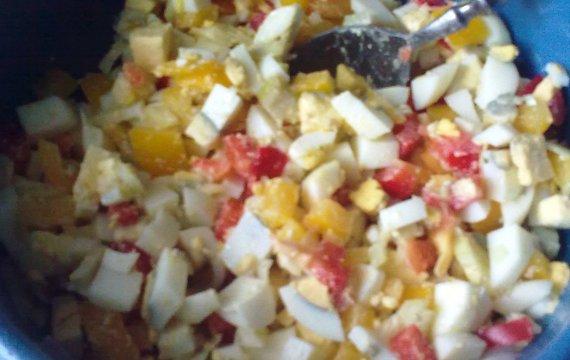 Jednoduchý vajíčkový salát