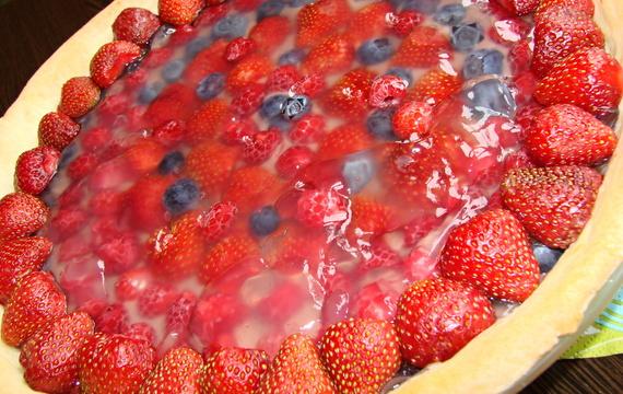 Ovocný koláč z hotového křehkého těsta