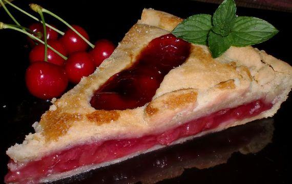 Křišťálový třešňový koláč