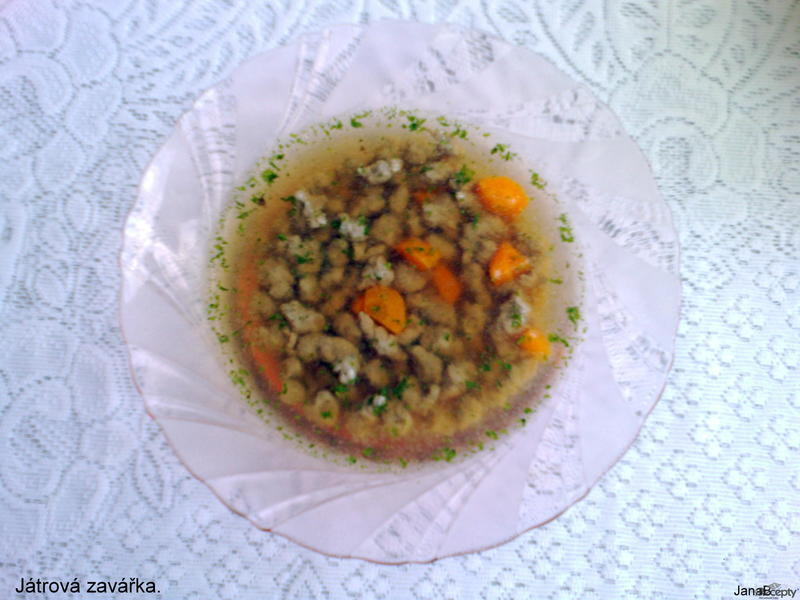 Játrová polévková zavářka