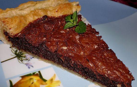 Čokoládový koláč z listového těsta