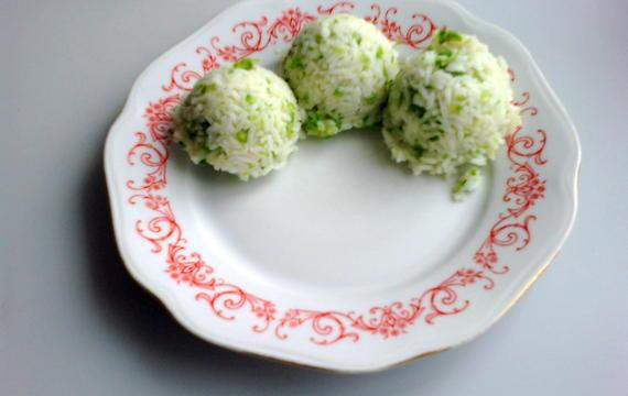 Rýže se salátem