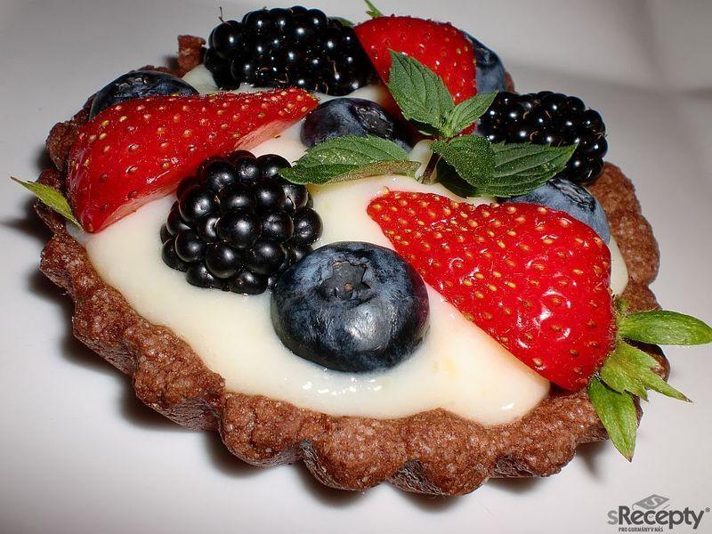 Kakaové tartaletky s ovocem