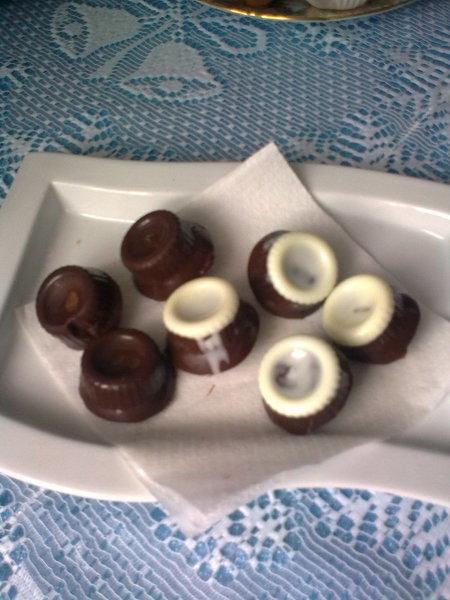 Domácí čokoláda s ořechy