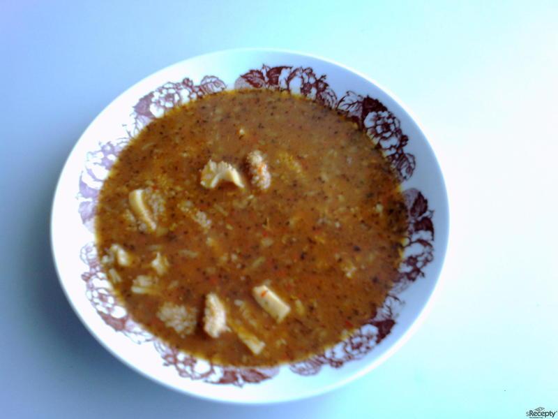 Dršťková polévka s kapií