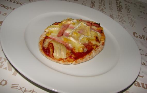 Pita chléb na způsob pizzy