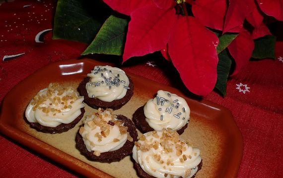 Kakaové košíčky s likérovým krémem