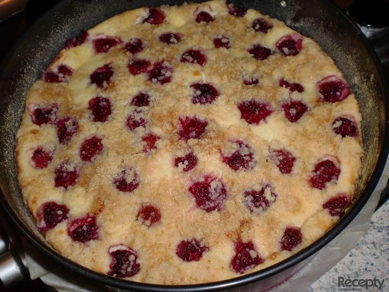Tvarohový koláč z drobenky podle Apetitu