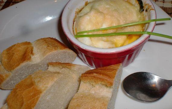 Florentinská vejce se špenátem a parmazánem