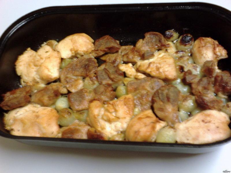 Pečené kuřecí s cibulkou