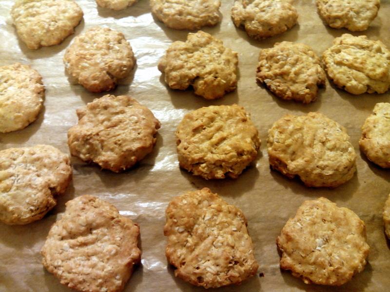 Zdravé sušenky s arašídovým máslem