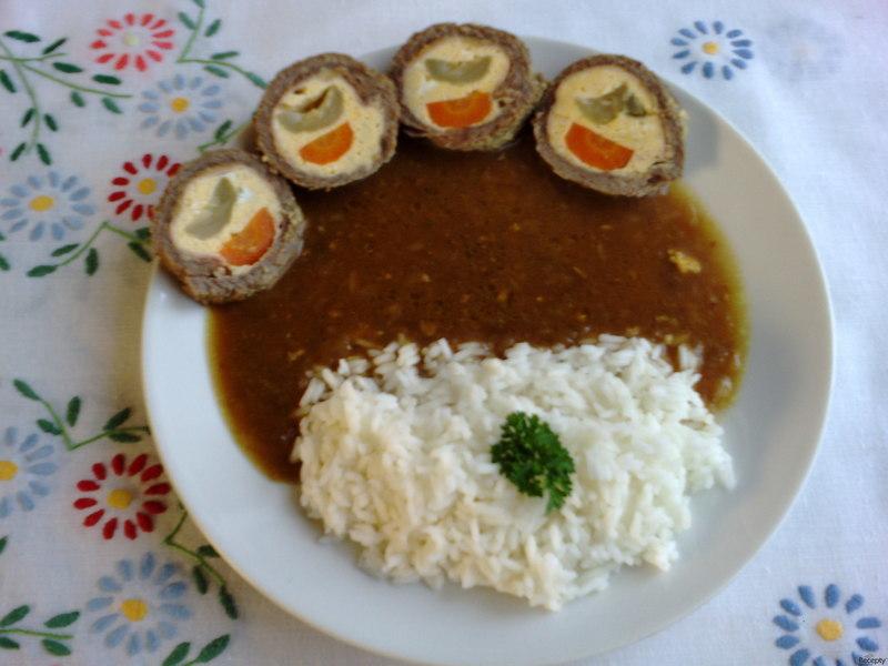 Hovězí roláda s vejci