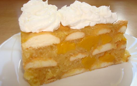 Studený jablečný dort