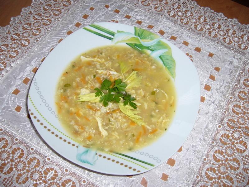 Polévka s vločkami a zeleninou