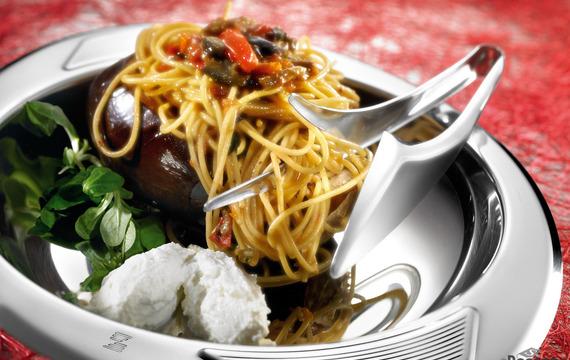Spaghetti á la norma