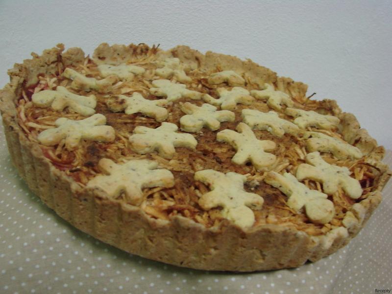 Jablečný koláč z oříškového těsta