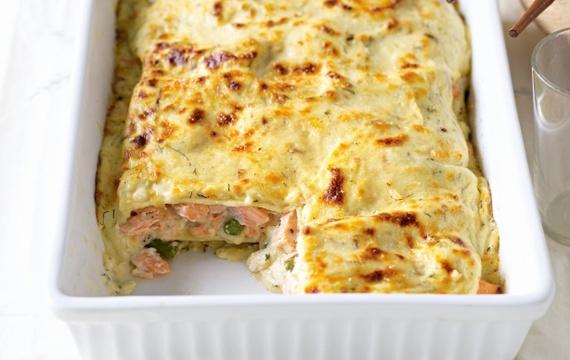 Lasagne s lososem