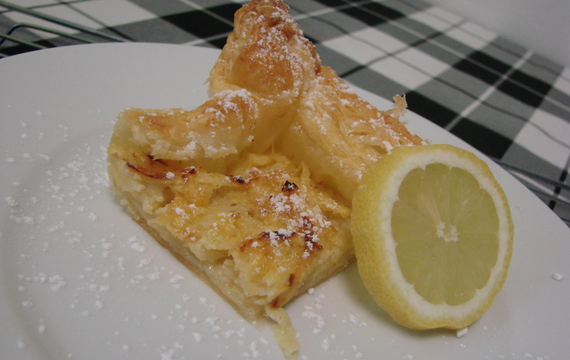 Letní citronovo-jablečný koláč