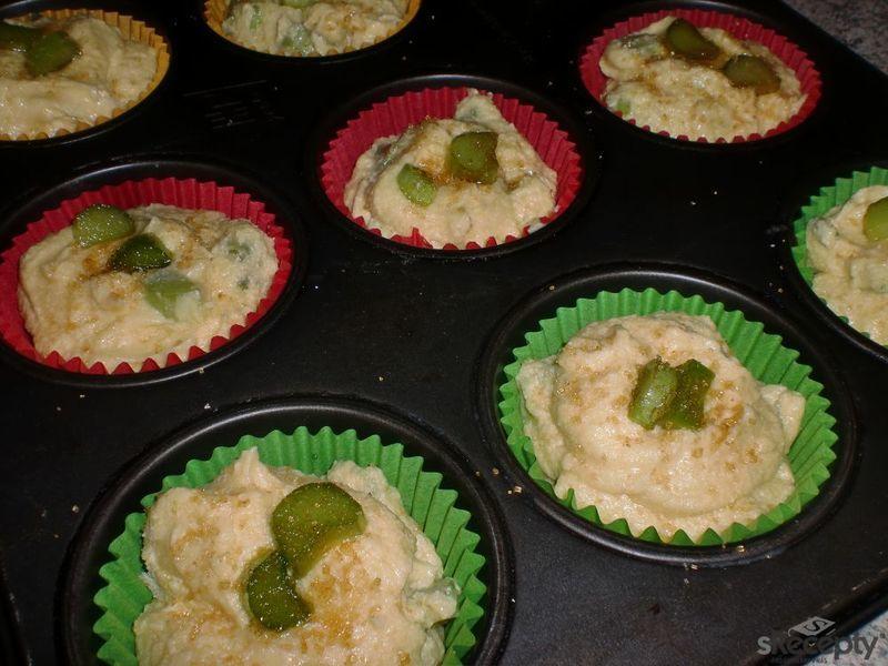 Rebarborovo - vanilkové muffiny
