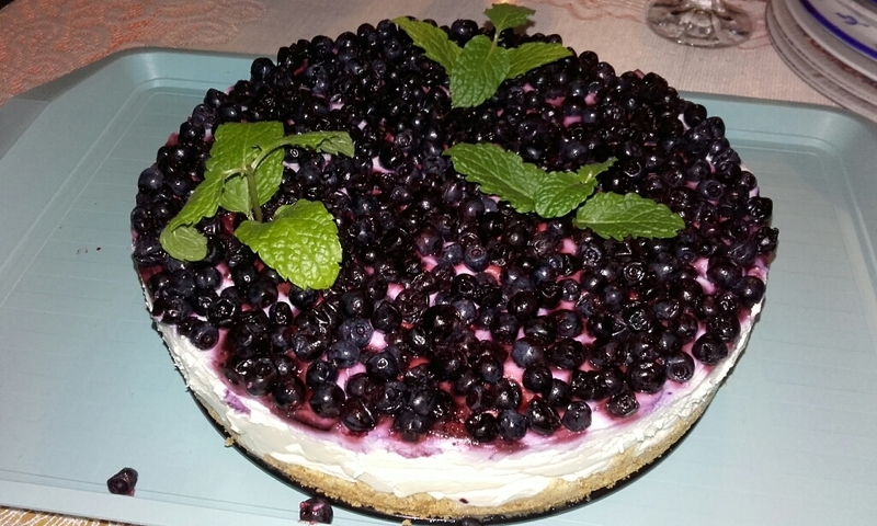 Borůvkový koláč s krémovým sýrem