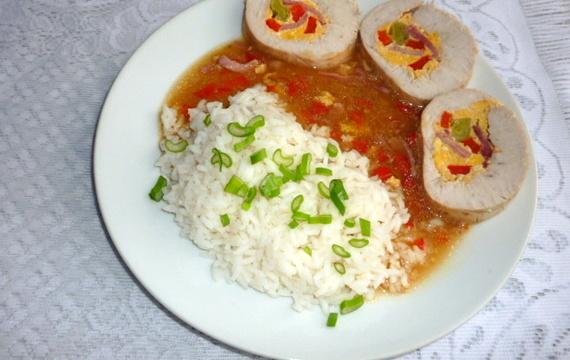 Krůtí roláda s rýží