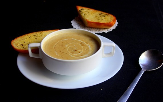 Kmínová polévka s mlékem
