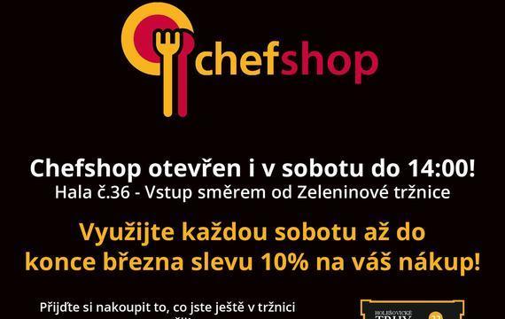 Chefshop.cz nově otevírá i v sobotu