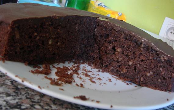 Čokoládovo cuketový koláč
