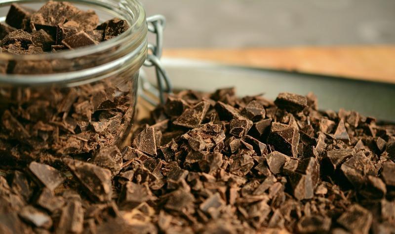 Křehký koláč s čokoládou