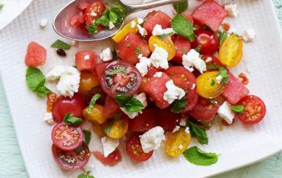 Rajčatovo-melounový salát